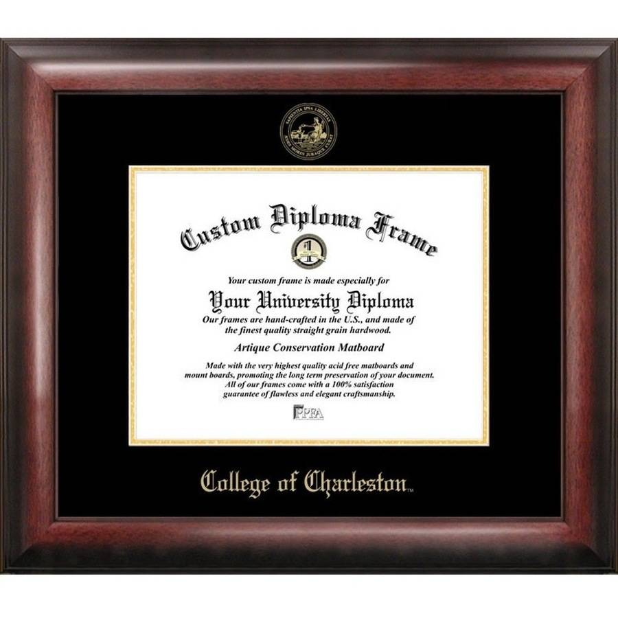 College Of Charleston 20 X 16 Gold Embossed Diploma Frame