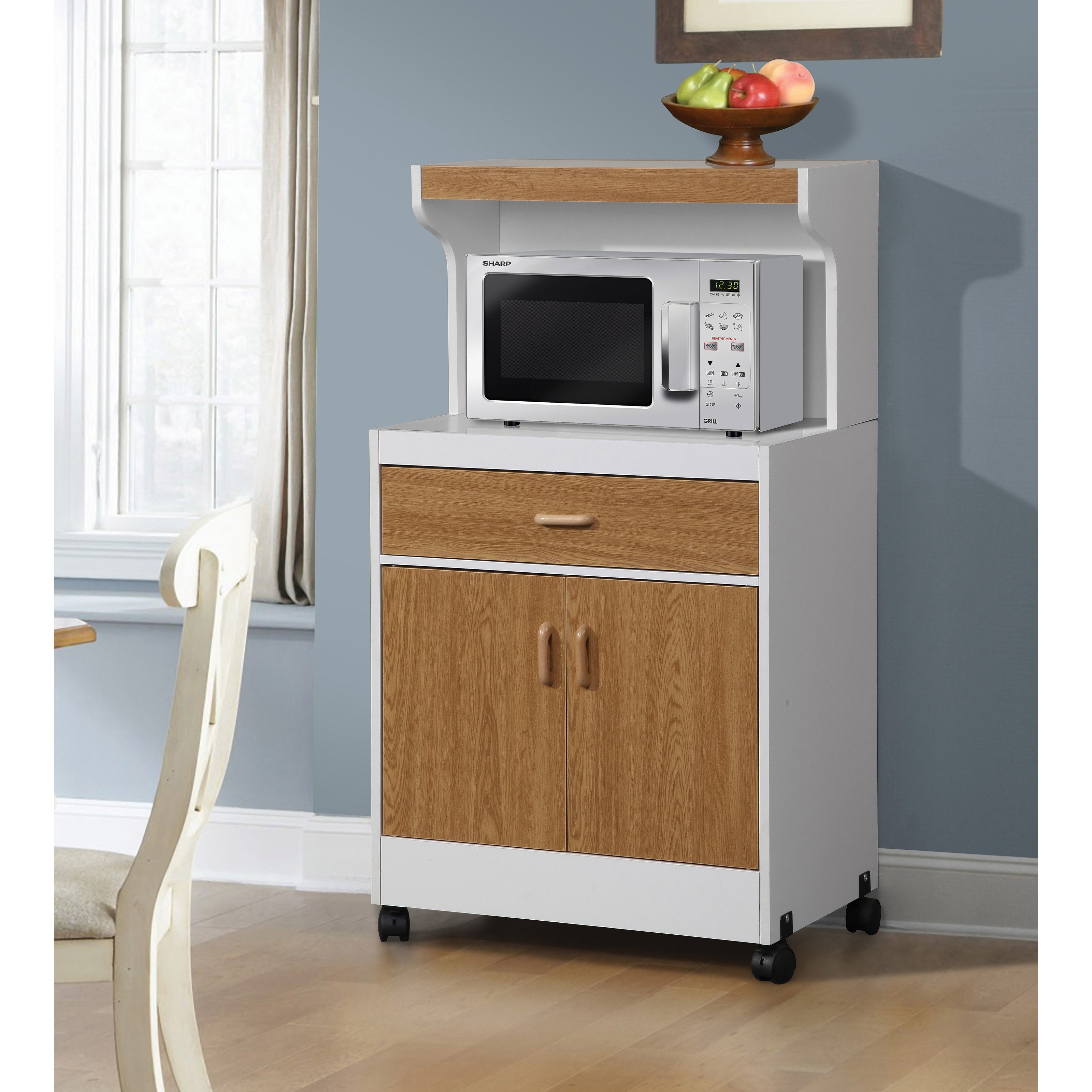 Home Source Portable Microwave Kitchen Cabinet