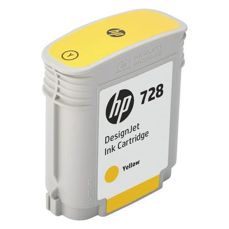 HP 728 (F9J61A) Yellow Original Ink Cartridge, 40 (Hp 40 Yellow Ink)