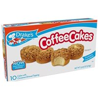 Product Image Drakes Coffee Cakes Individually Wrapped 10 Count 1303 Oz Box