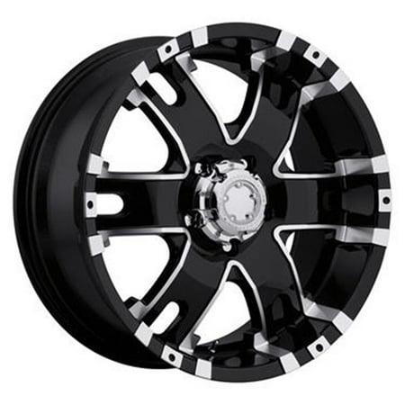 ULTRA 2027973B Baron Wheel - 17 X 9 In., Gloss Black (Baron Wheels)