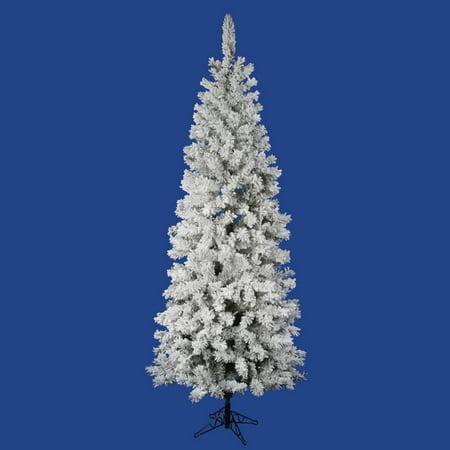 Vickerman Unlit 7.5' Flocked Pacific Artificial Christmas Tree