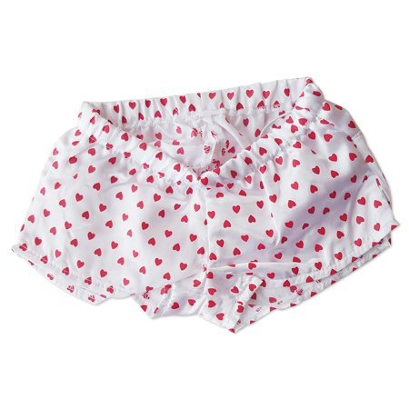 White Boxers with Red Hearts Shorts Teddy Bear Clothes Fits Most 14