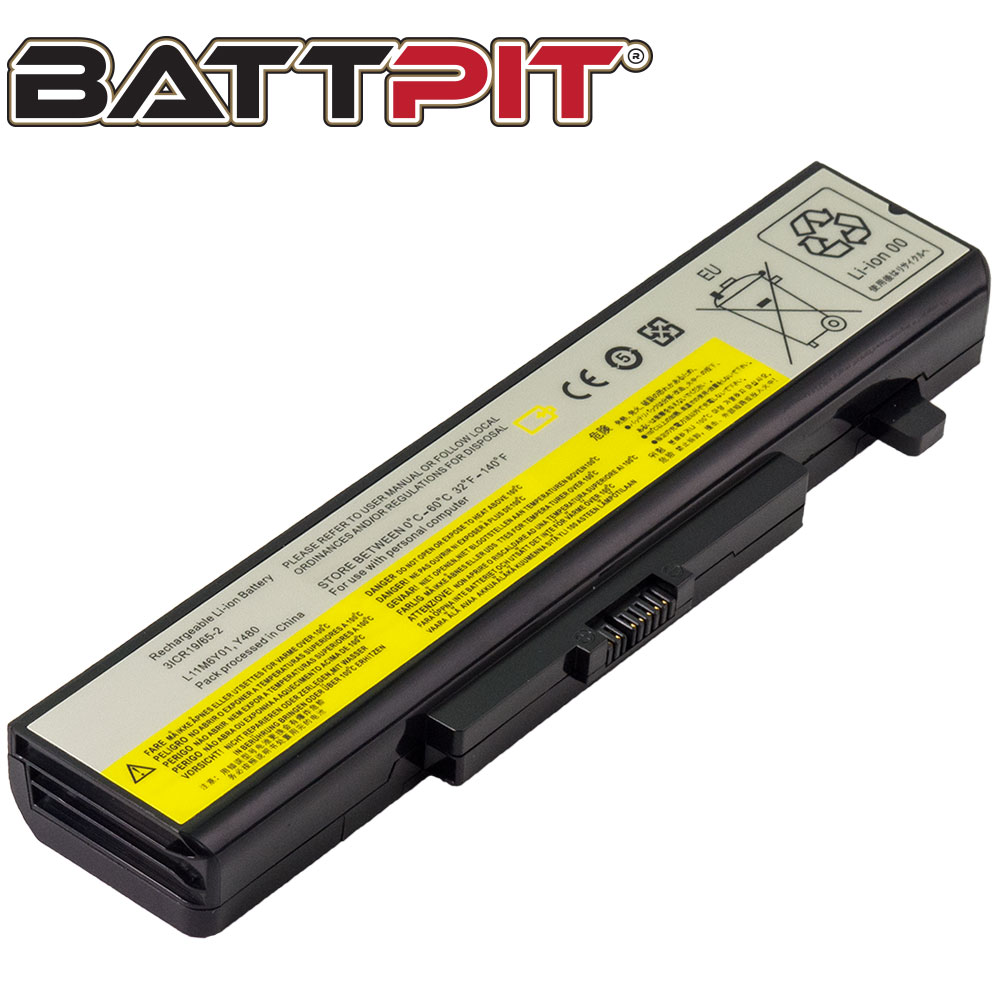 BattPit: Laptop Battery Replacement for Lenovo IdeaPad Z580, 121500050, 0B58693, 45N1049, L11L6F01, L11L6Y01, L11N6R01, L11S6Y01 (11.1V 4400mAh 49Wh)