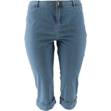 Joan Rivers Petite Stretch Denim Cropped Pants Women's A304666