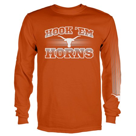 Texas Longhorns Tri Color (Men's Texas Orange Texas Longhorns Arbiter Long Sleeve T-Shirt)