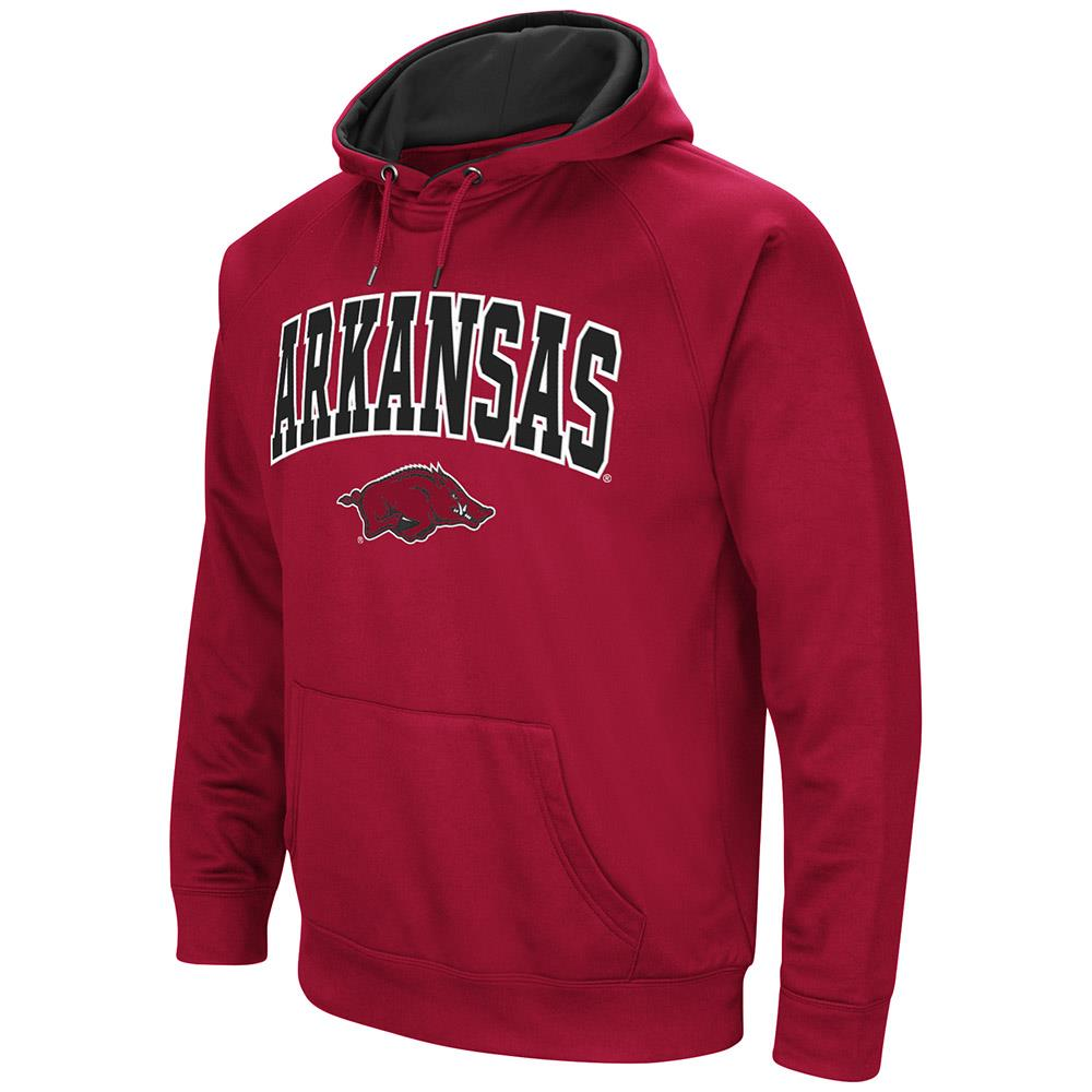 Mens Arkansas Razorbacks Fleece Pull-over Hoodie