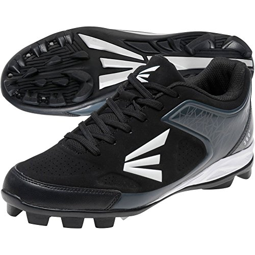 Easton 360 Senior Baseball Cleats - Black/Charcoal (8.0)