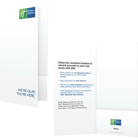 Holiday Inn Express Check In Folder Package Of 1000