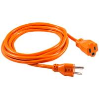 GE 1-Outlet Indoor/Outdoor 9ft. Heavy Duty Extension Cord, Orange, 51927