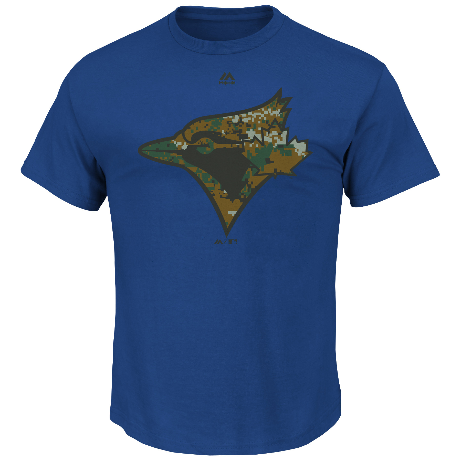 Toronto Blue Jays Majestic Youth USMC Woodland Camo Logo T-Shirt - Royal