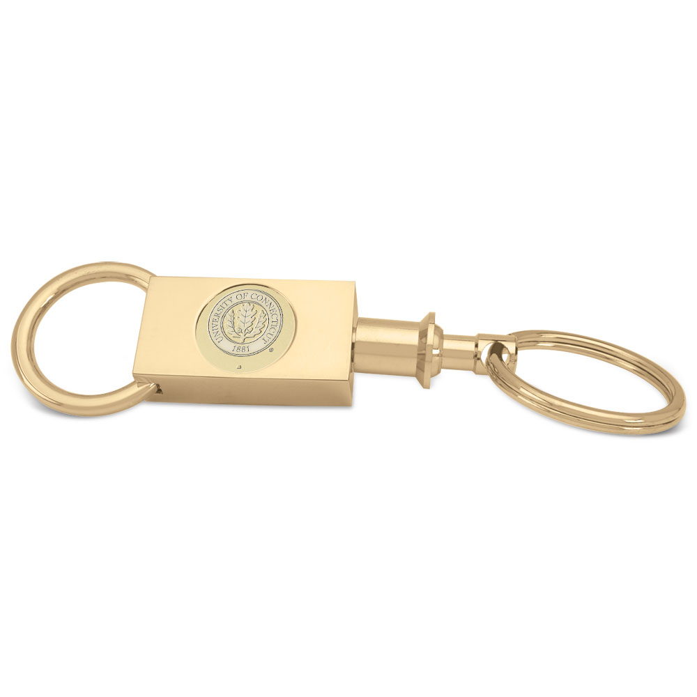 Connecticut Gold Two-section Key Ring by