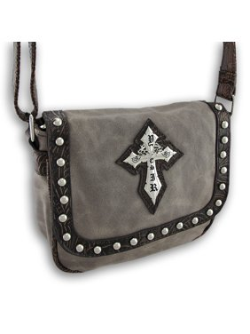eef2b641c9 Product Image Shoulder Bag with Studs, Gothic Cross, Textured Trim