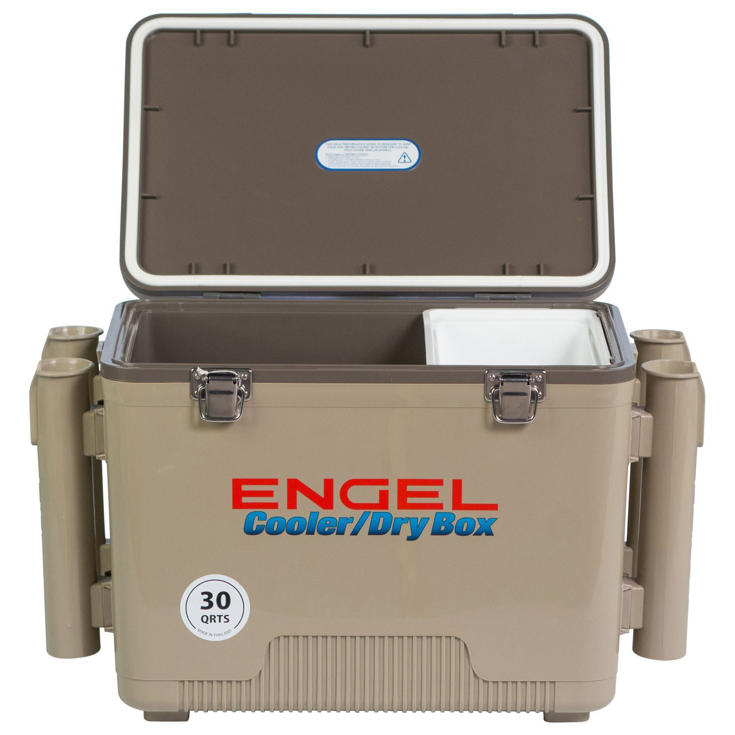 Engel Coolers 30 Quart Leak Proof Insulated Drybox with 4 Rod Holders (2 Pack)