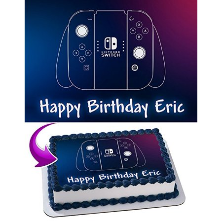 Nintendo Switch Edible Cake Image Personalized Icing Sugar Paper A4 Sheet Edible Frosting Photo Cake 1/4 Edible Image for cake](Nintendo Decorations)