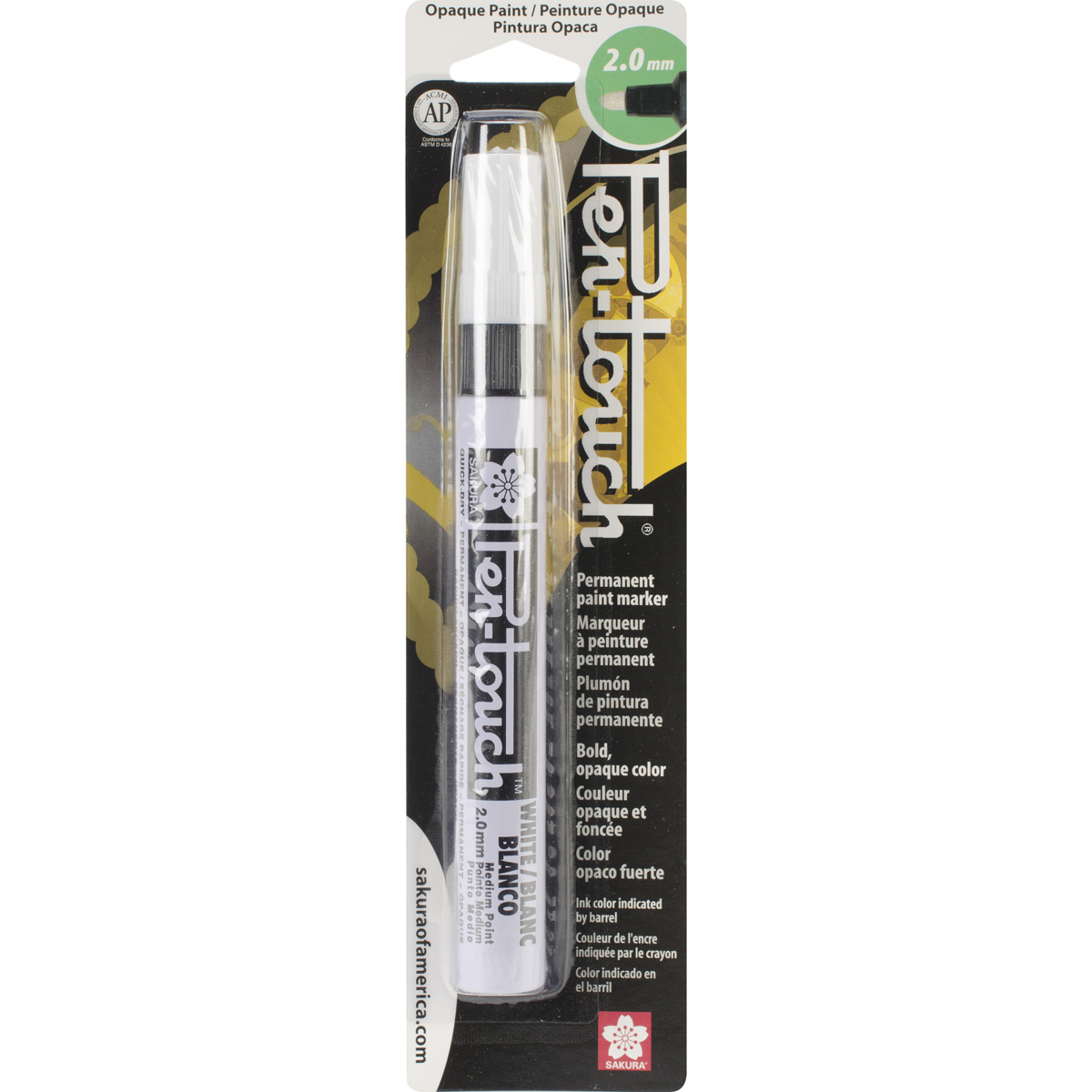 Pen-Touch Paint Marker Medium Point 2mm-White