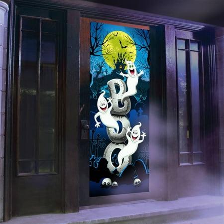 Ghosts Light and Sound Door Panel Halloween Decoration](Halloween Dorm Door Decoration Ideas)