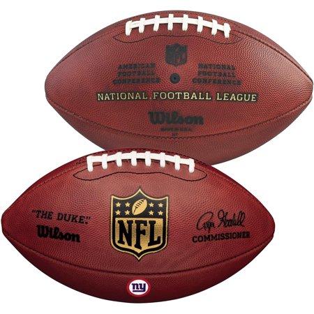 Wilson New York Giants Official Duke Football with Team Decal