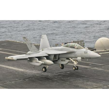 An Ea 18G Growler Landing On The Flight Deck Of Uss George Hw Bush Canvas Art   Giovanni Collastocktrek Images  18 X 11
