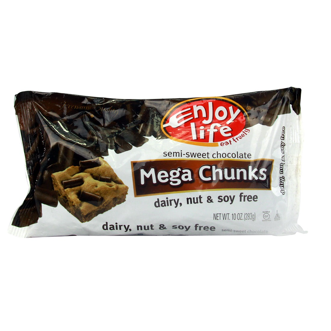 Enjoy Life, Baking Chips, Powder & Bars, Choc Chunk Semi Swt Mega, 10 Oz (Pack Of 12) by Enjoy Life Natural Brands