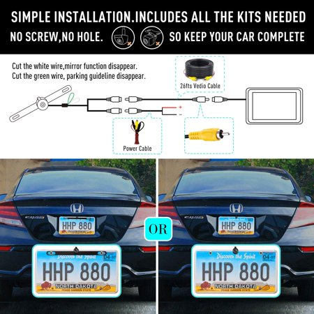 Car Rear View Review Reversing Backup/Front View Camera with 149° Perfect View Waterproof Car Dash Security Sensor Camera for Ford/RV/Trailer/Bus/Trucks Fit All Monitors - image 2 of 8