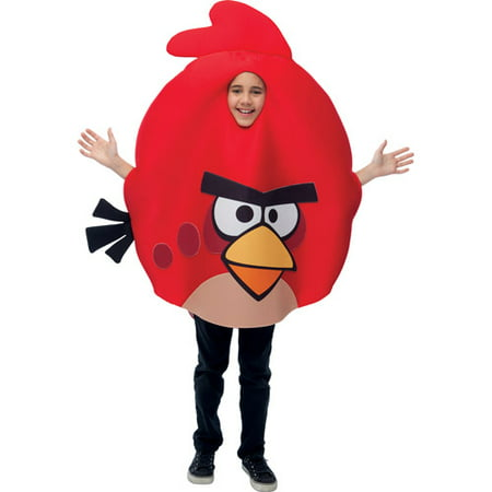 Angry Birds Red Bird Child Halloween Costume - Sesame Street Halloween Costumes Big Bird
