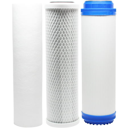Compatible Filter Kit for H2O Distributors H2O-RUS-300-I RO System - Includes Carbon Block Filter, PP Sediment Filter & GAC Filter - Denali Pure Brand - image 4 de 4