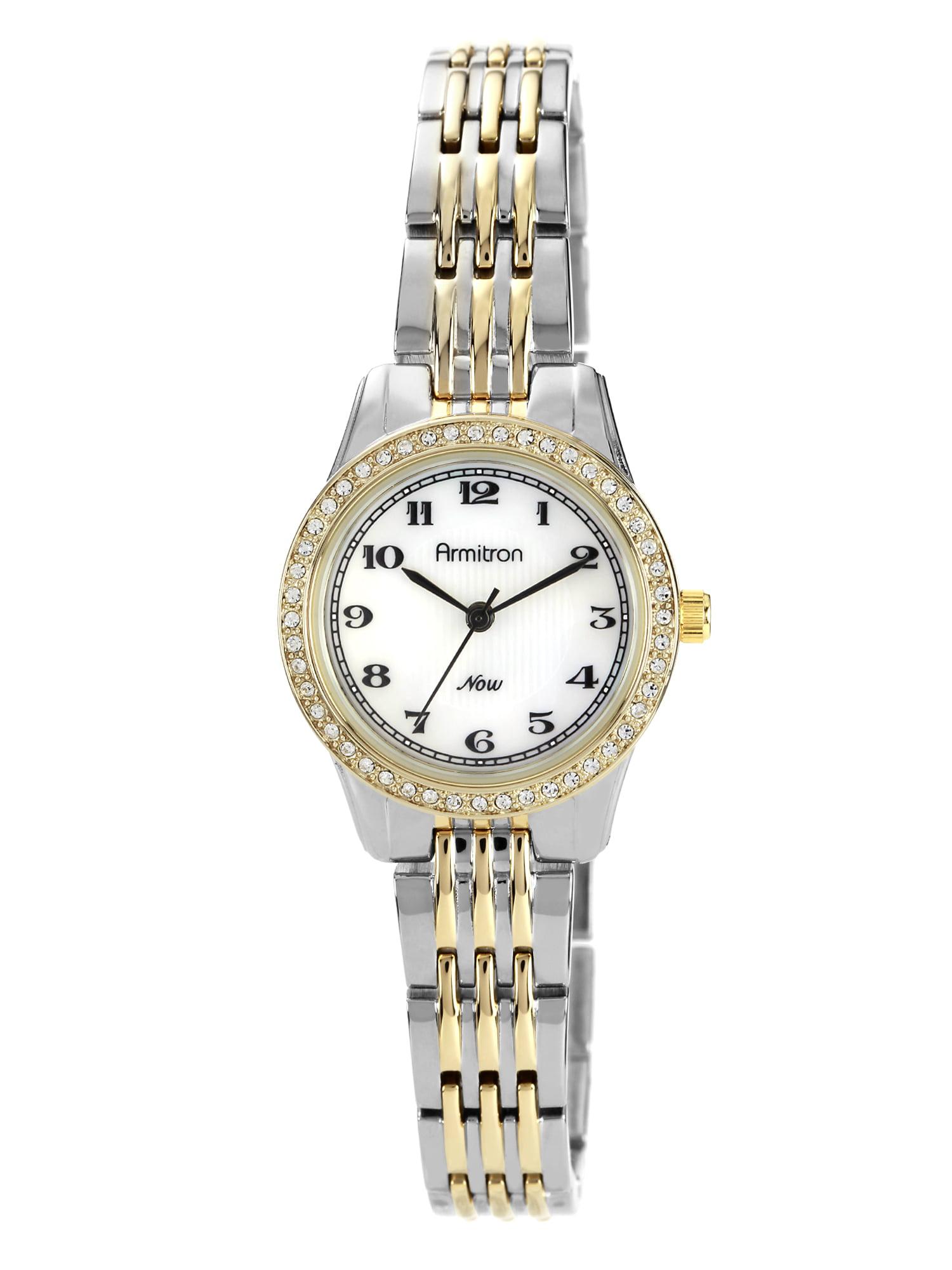 Women's Crystal Accent Watch, Two-Tone Bracelet