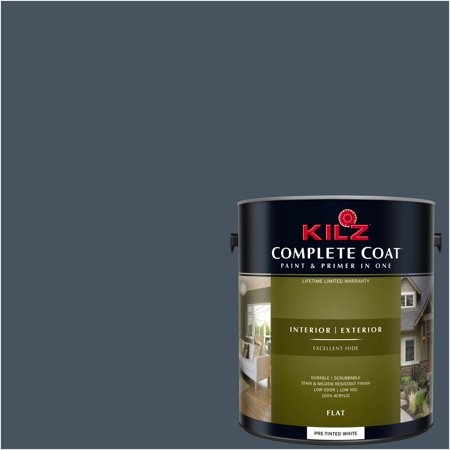 KILZ COMPLETE COAT Interior/Exterior Paint & Primer in One #RE120-02 Kettle
