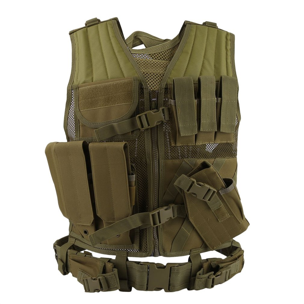 Military Uniform Adjustable Outdoor Men Military Gun Tactical Combat Assault Vest Army Hunting Airsoft Field Battle... by Generic