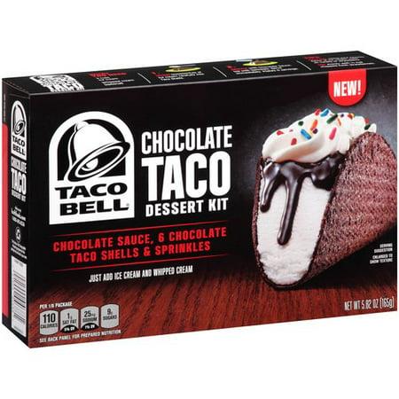 taco bell chocolate taco dessert kit 5 82 oz walmart com