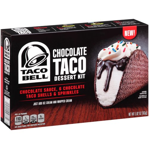Taco Bell Chocolate Taco Dessert Kit, 5.82 oz