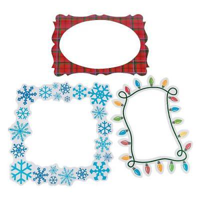 IN-13666140 Merry & Bright Picture Frame Cutouts 2PK (Photo Cutout)