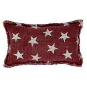 Multi Star Red Pillow 7x13