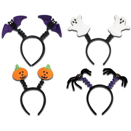 Halloween Headbands (Morris Costumes Supplies Halloween Pumpkin Headband Boppers One Size, Style)