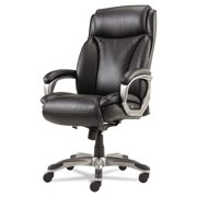 Alera Veon Series Executive HighBack Leather Swivel Office Chair, Coil Spring Cushioning,Black