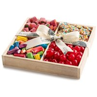 The Nuttery 4-Section Wooden Gift Assortment, Party Candy, Holiday Gift Tray