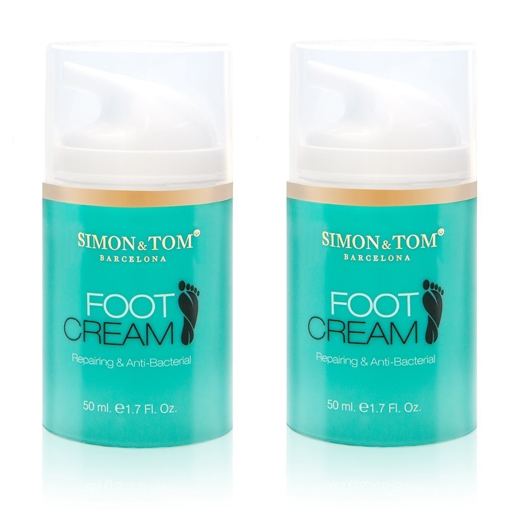 Simon & Tom Foot Treatment Cream - Moisturizing, Repairing & Antibacterial Foot Cream with Tea Tree Oil 50 ml. / 1.69 fl. Oz (Pack of 2)