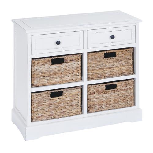 Wooden 4-Basket Cabinet