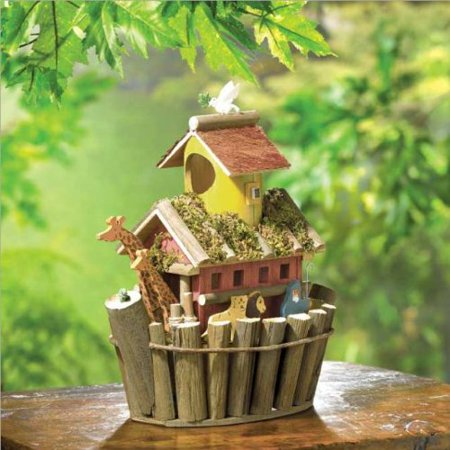 NOAH`S ARK -POLY, Size -POLY, Color NOAH`S ARK, Two by two, the animals go in this one-of-a-kind birdhouse overflowing with fanciful fun! By Birdhouse from