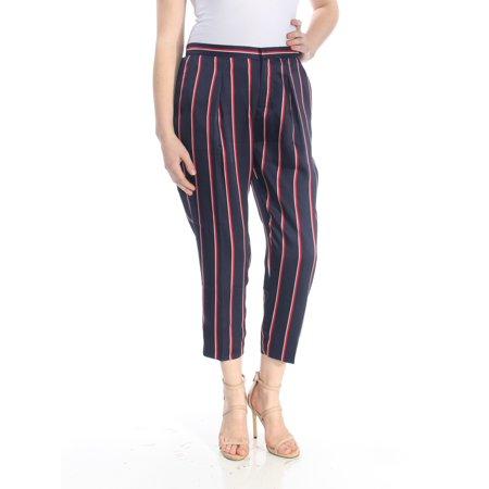 RALPH LAUREN Womens Navy Striped Cropped Pants Petites  Size: (Ralph Lauren Navy Chino)