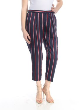 52dd08af Product Image RALPH LAUREN Womens Navy Striped Cropped Pants Petites Size: 8