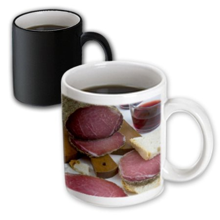 3dRose Lonza, Pork loin, cured ham, Tuscan cuisine, Italy - LI11 NTO0048 - Nico Tondini, Magic Transforming Mug, 11oz