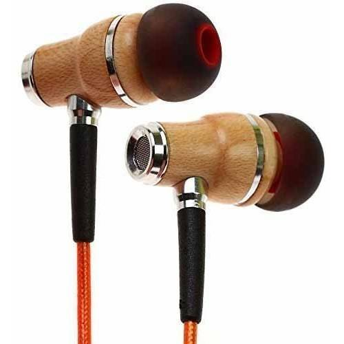 Symphonized NRG 2.0 Premium Genuine Wood In-Ear Noise-Isolating Headphones/Earbuds/Earphones with Innovative Shield Technology Cable and Mic