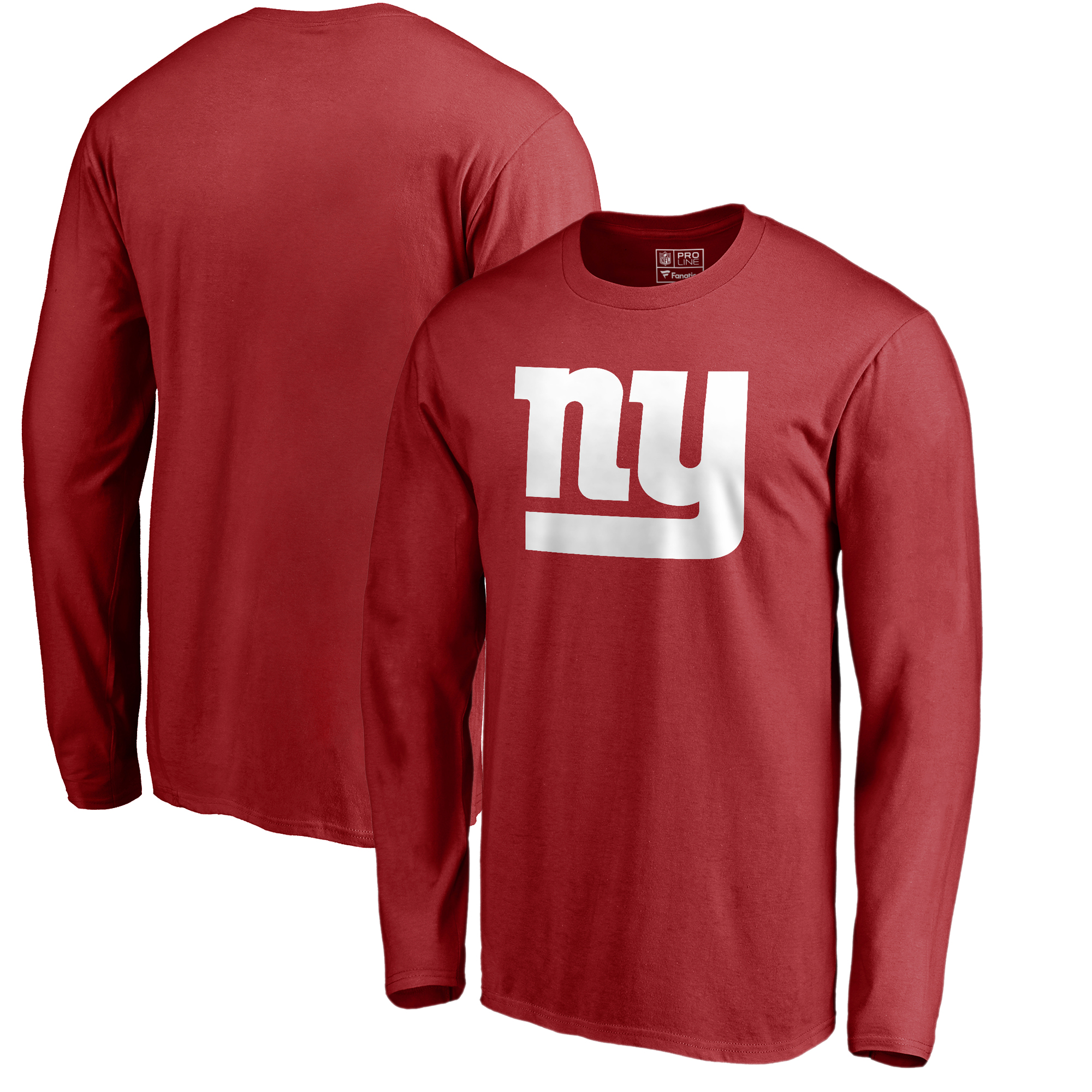 New York Giants NFL Pro Line by Fanatics Branded Primary Logo Long-Sleeve T-Shirt - Red