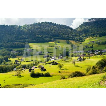 Alpine Village in Switzerland Print Wall Art By Anatolii