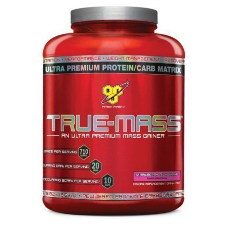 BSN True-Mass ultra-haut de gamme Lean Mass Gainer, Strawberry Milkshake, 5,75 Pound