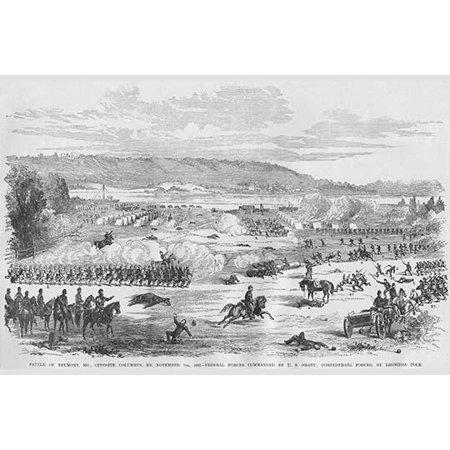 Battle of Belmont Missouri - Grant Vs Polk Poster Print by Frank Leslie