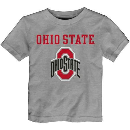 Toddler Heathered Gray Ohio State Buckeyes Basic Logo T-Shirt