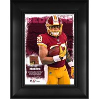 "Derrius Guice Washington Redskins Framed 5"" x 7"" Player Collage with a Piece of Event-Used Football"